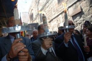 שבת האש הקדושה - שבת האור - תהלוכה
