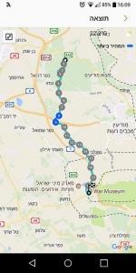 מפת שביל ישראל ממצפה מודיעין ללטרון