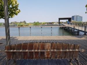 פארק הוד השרון - גשר וסככת מסתור